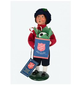 Byers' Choice Carolers Salvation Army Boy Shopper