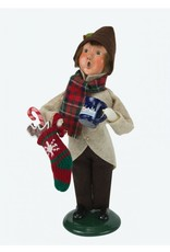 Byers' Choice Carolers Boy with Gingerbread