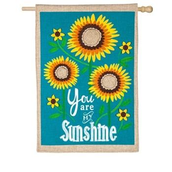Sunflower Welcome House Flag