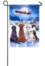 Christmas Dogs Garden Flag