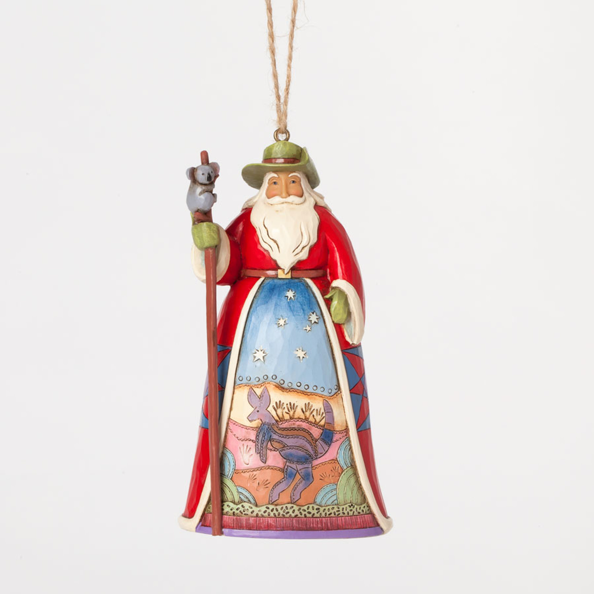 Jim Shore Australian Santa Ornament
