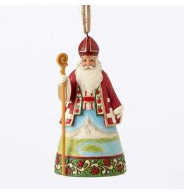Jim Shore Swiss Santa Ornament