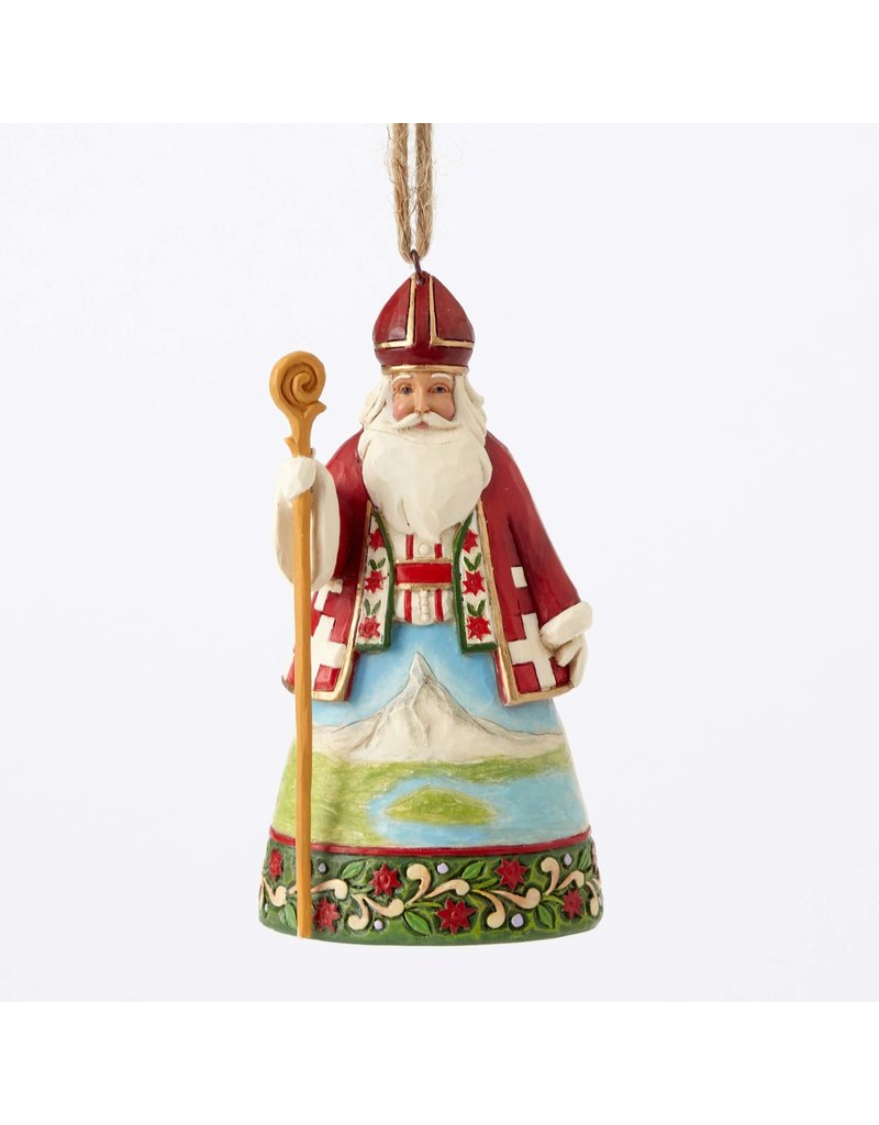 Jim Shore Swiss Santa Ornament