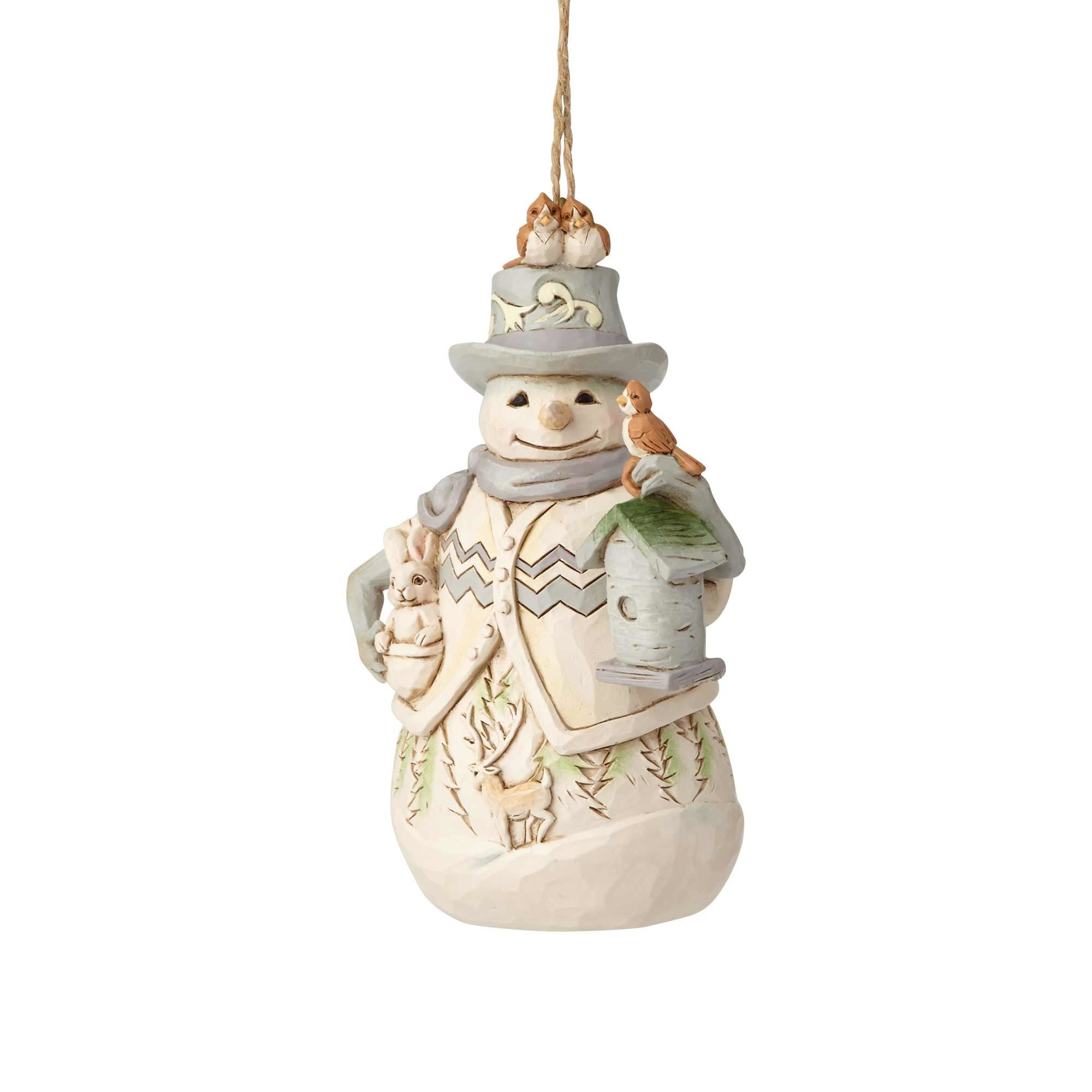 Jim Shore Woodland Snowman Ornament