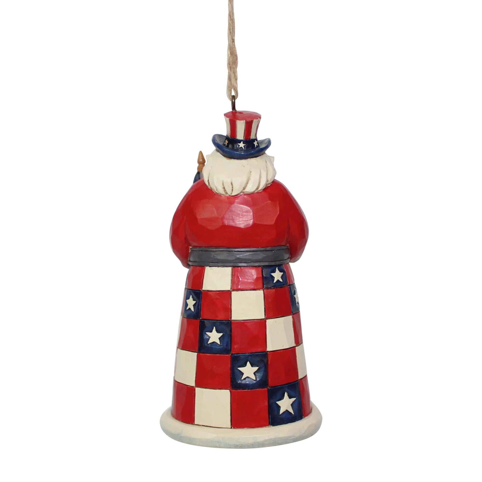 Jim Shore American Santa Ornament