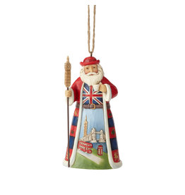 Jim Shore British Santa Ornament