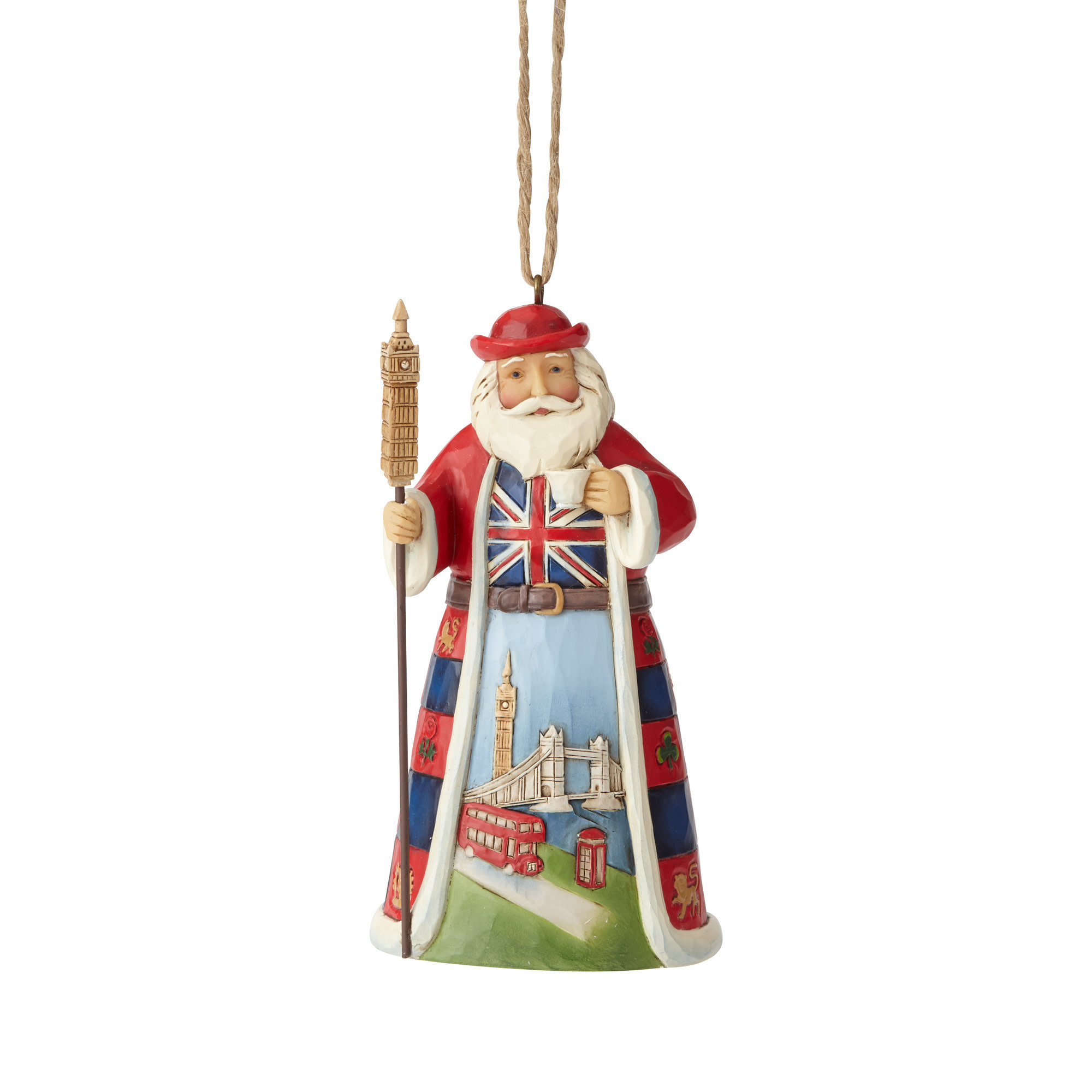 Jim Shore British Santa Ornament