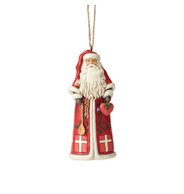 Jim Shore Danish Santa Ornament