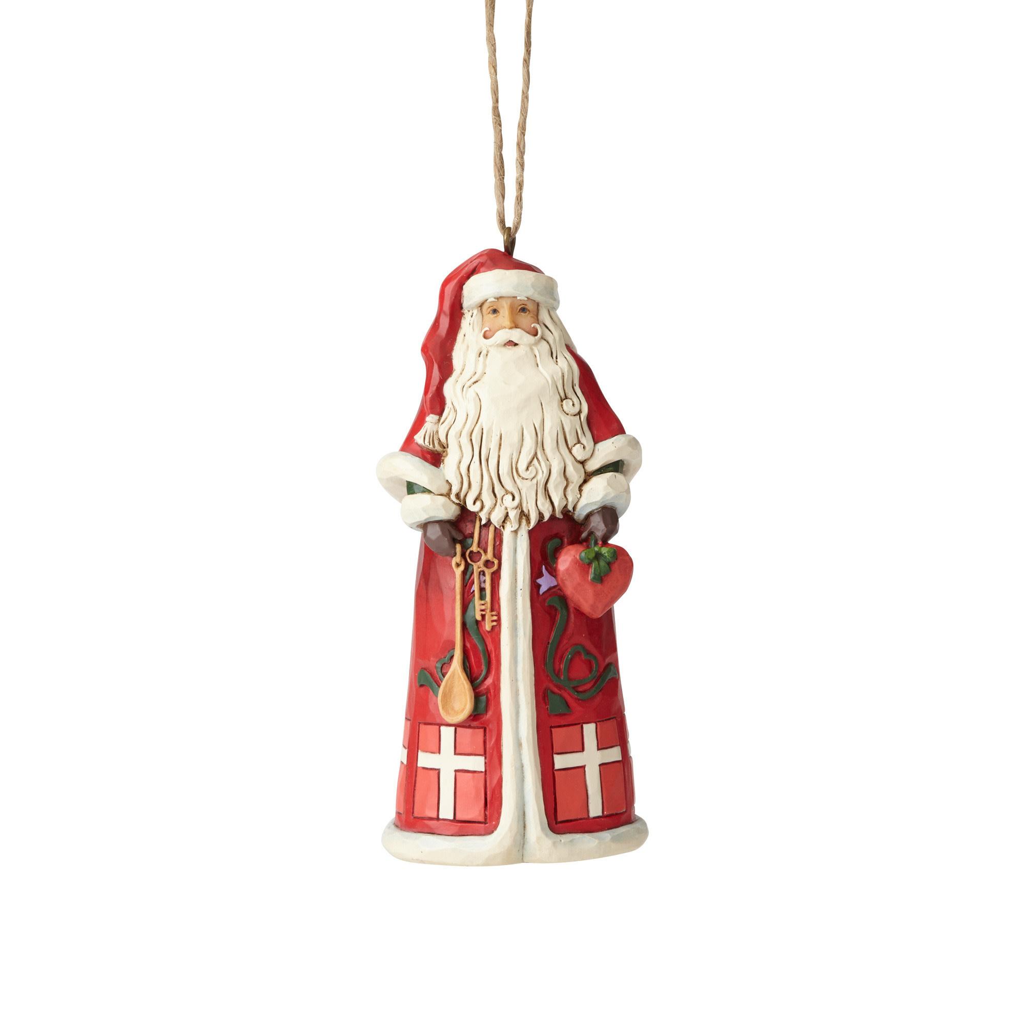 Jim Shore Danish Santa Ornament