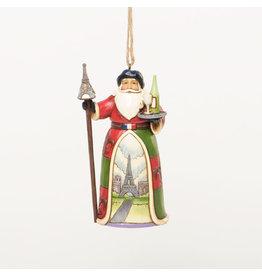 Jim Shore French Santa Ornament
