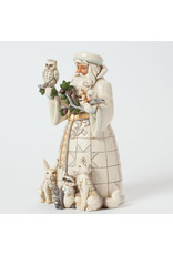 Jim Shore White Woodland Santa with Animals