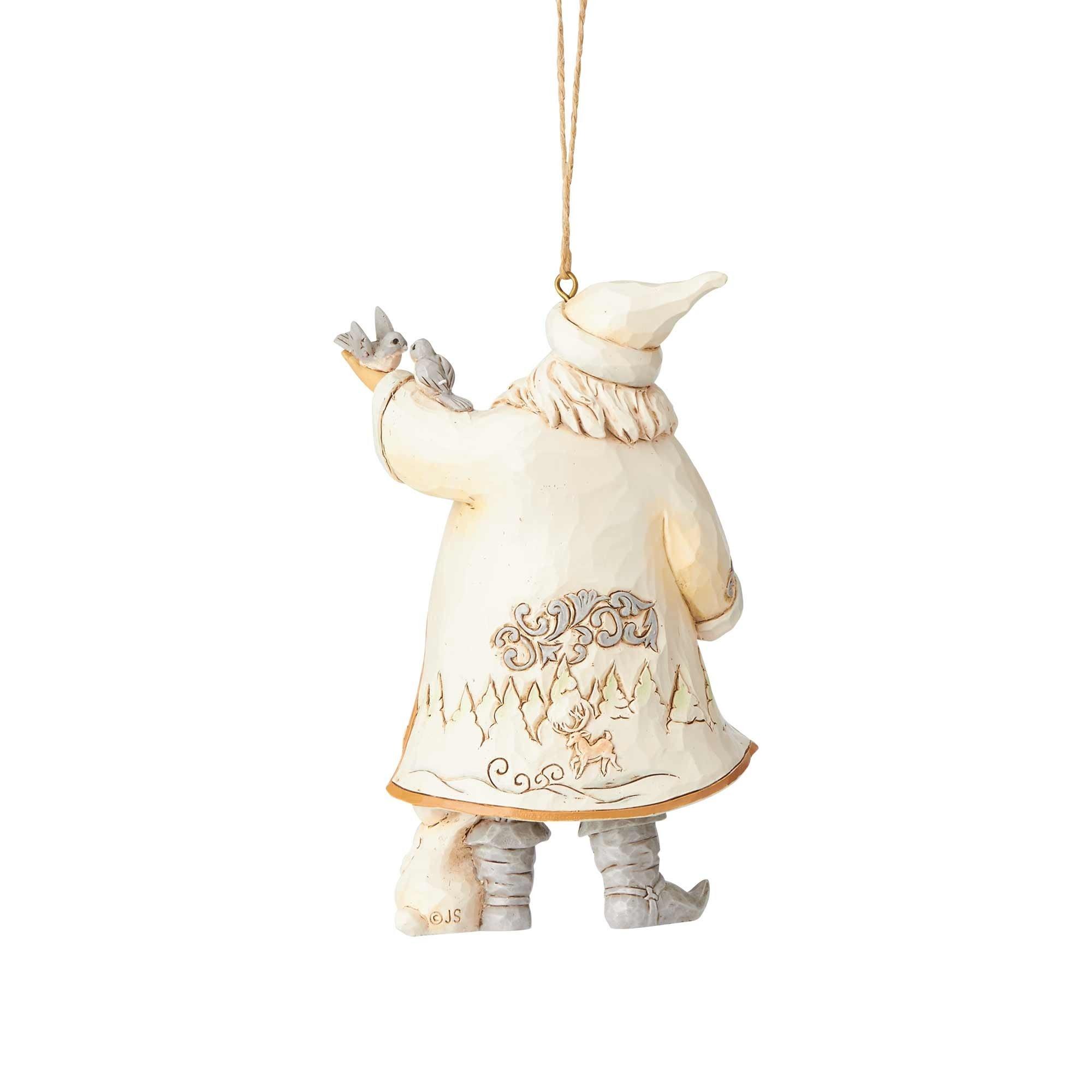 Jim Shore Woodland Santa with Birds Ornament