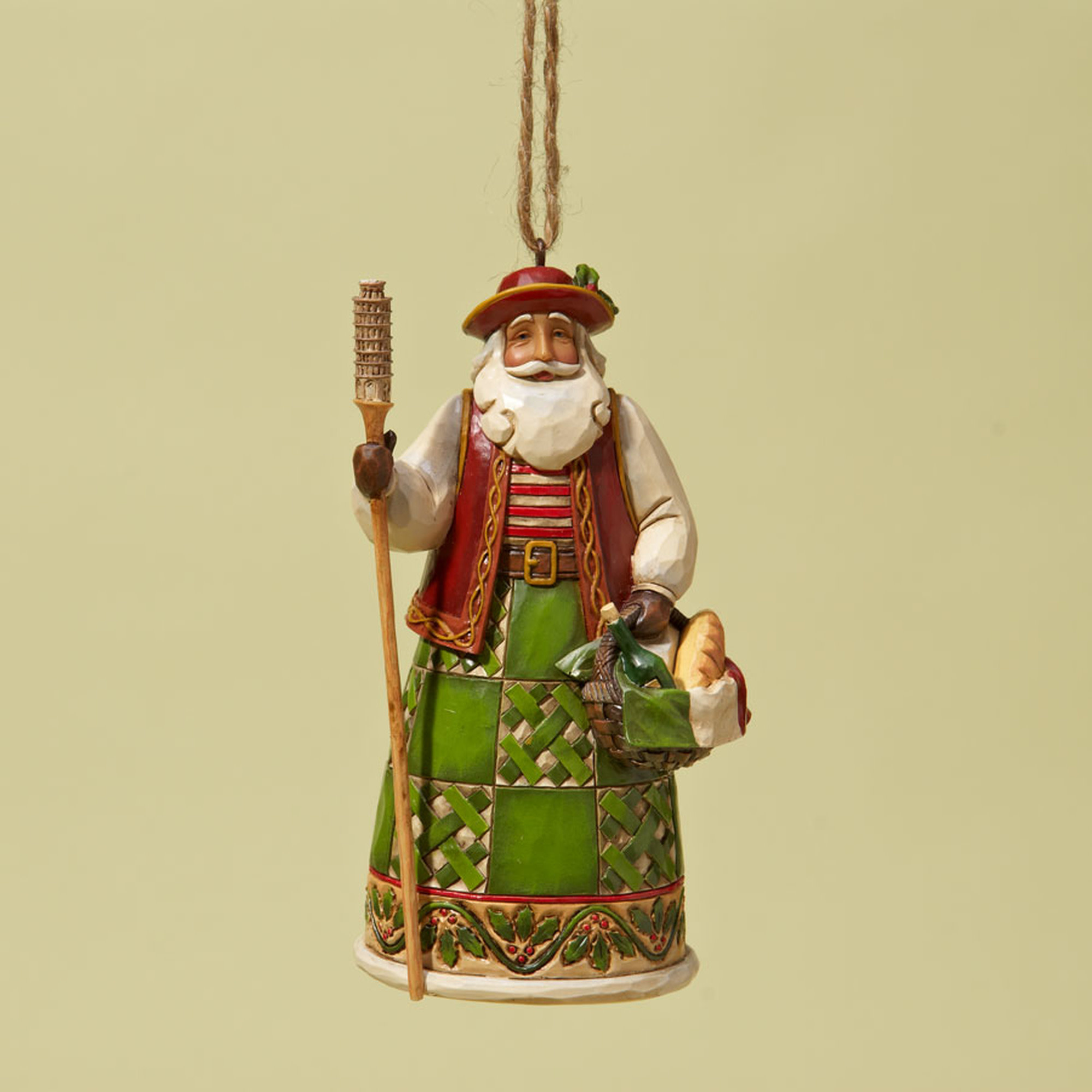 Jim Shore Italian Santa Ornament