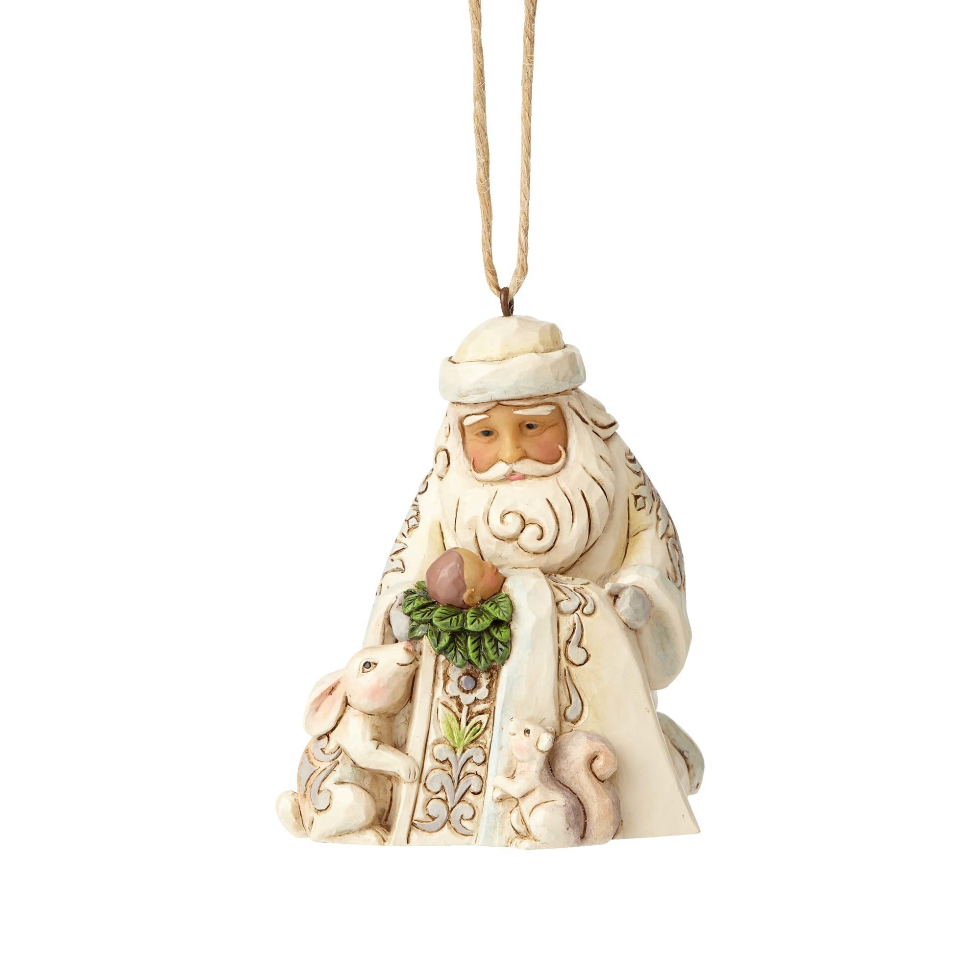 Jim Shore Woodland Santa with  Baby Jesus Ornament