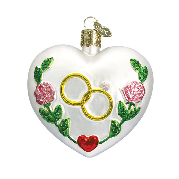 Old World Christmas Wedding Heart