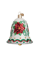 Old World Christmas Poinsettia Bell