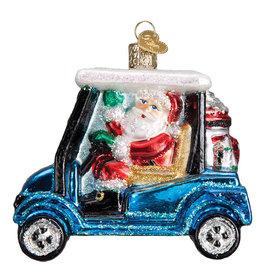 Old World Christmas Golf Cart Santa