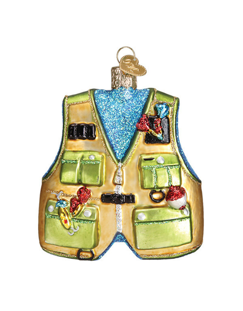 Old World Christmas Fishing Vest