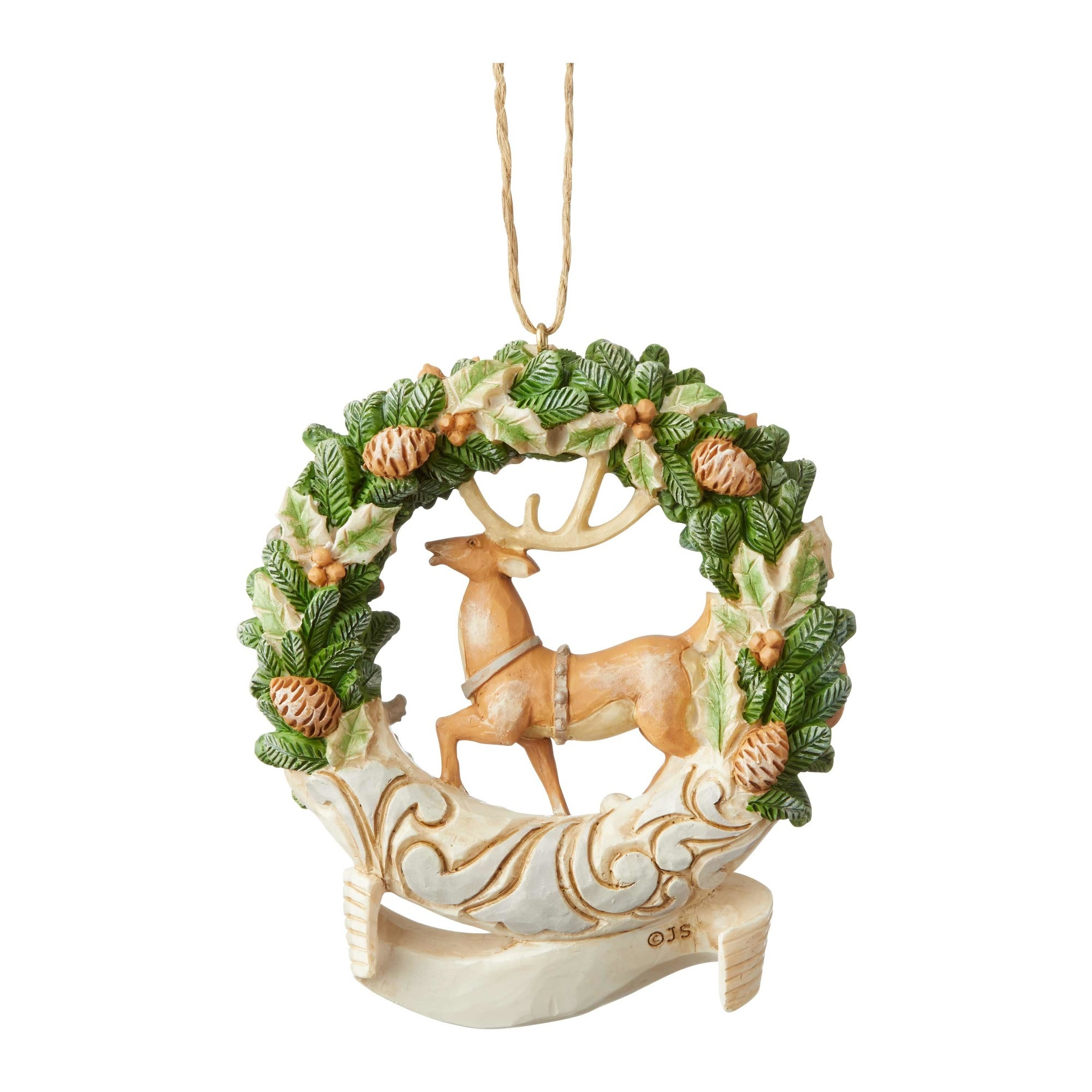 Jim Shore Woodland 2019 Deer Wreath Ornament