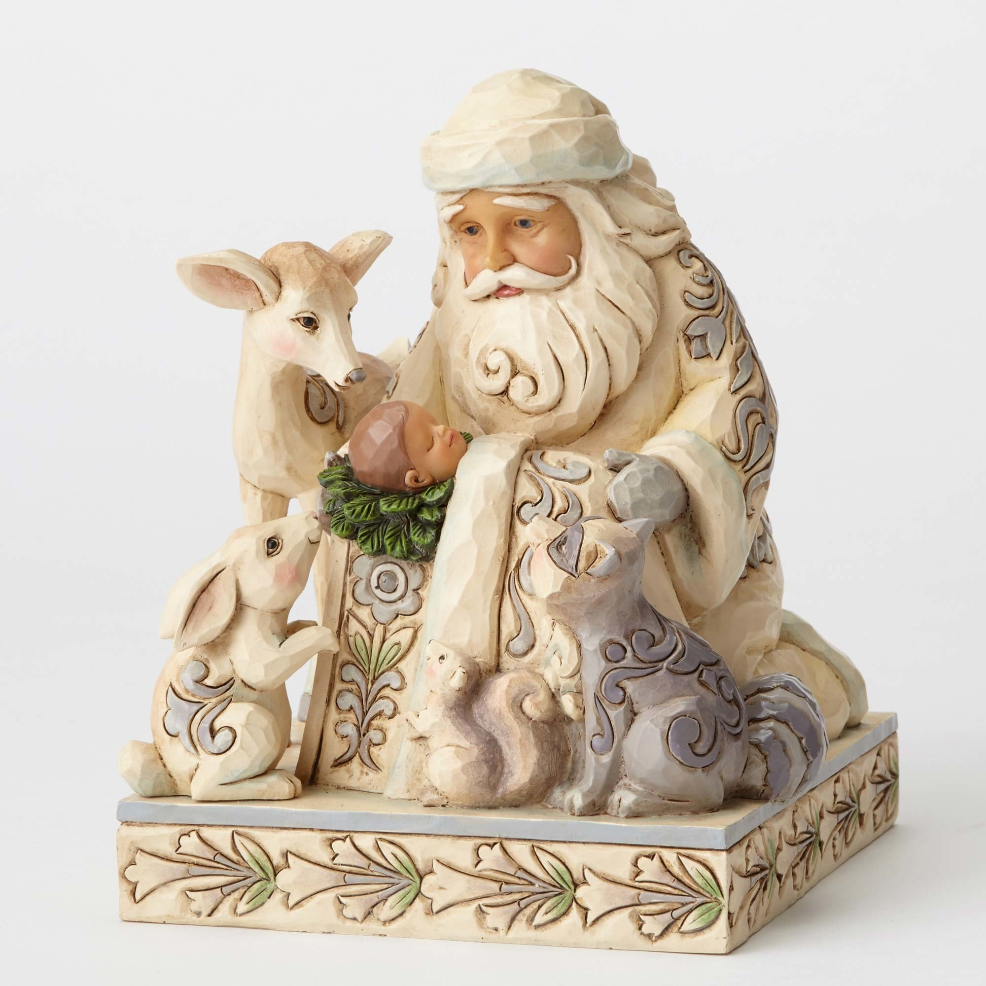 Jim Shore Woodland Santa with Baby Jesus