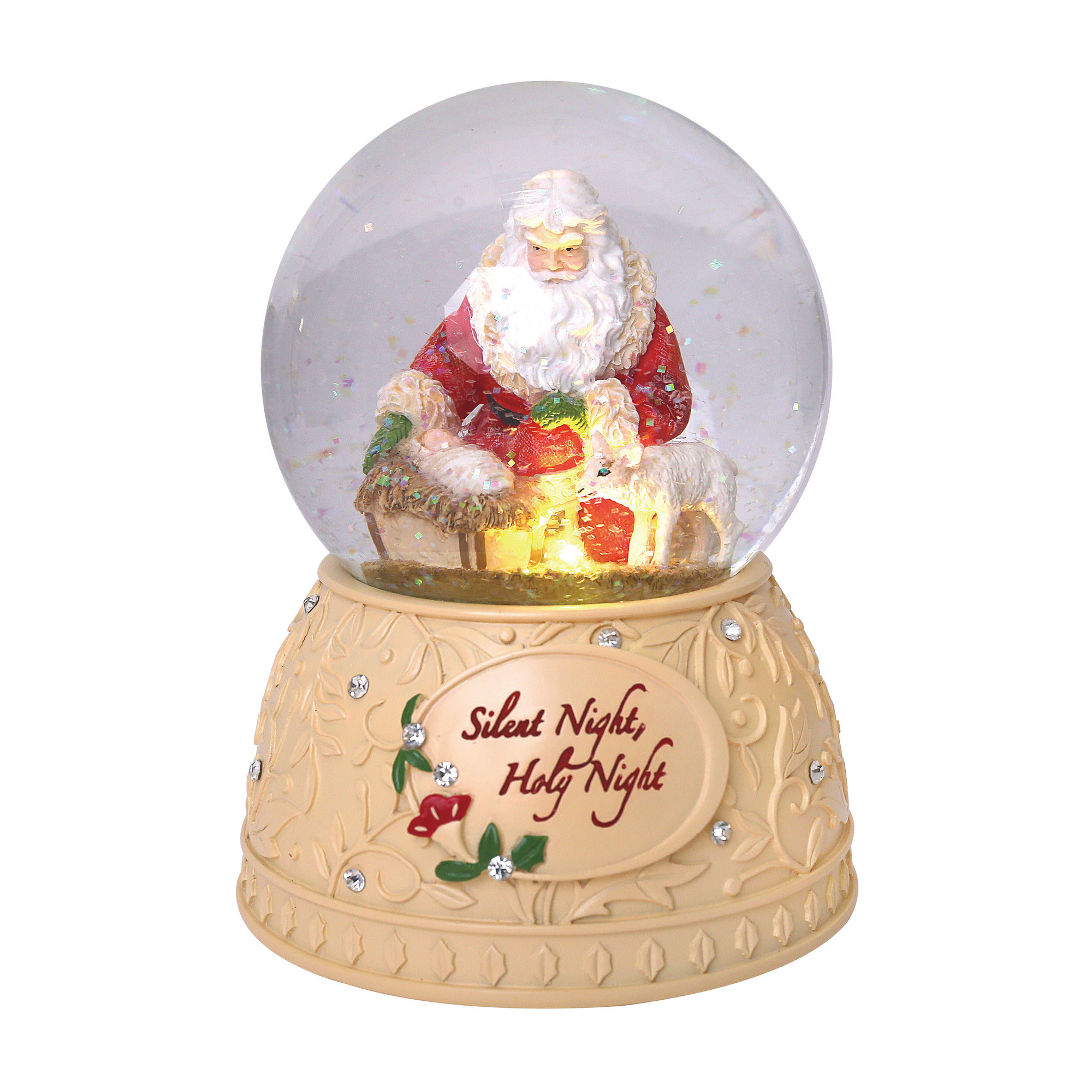 Silent Night Holy Night Snowglobe