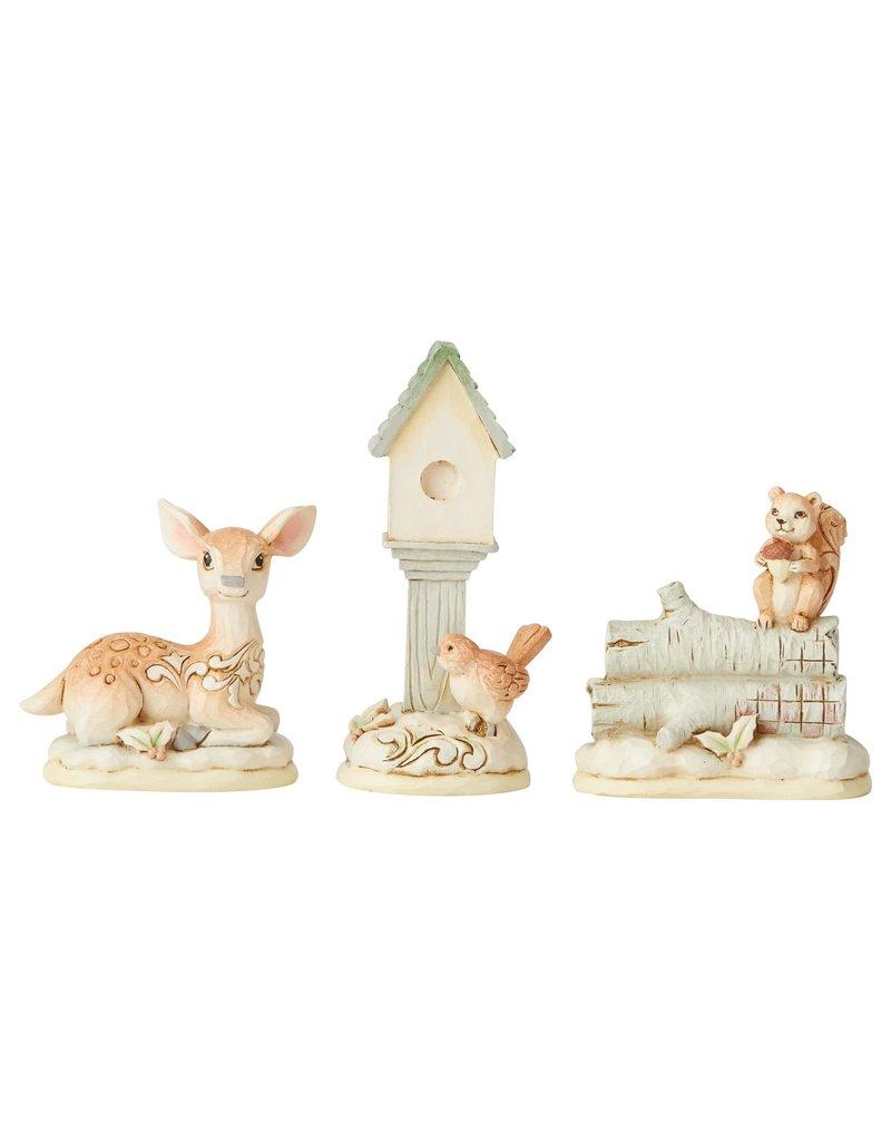 Jim Shore Woodland Mini Animal Set of 3