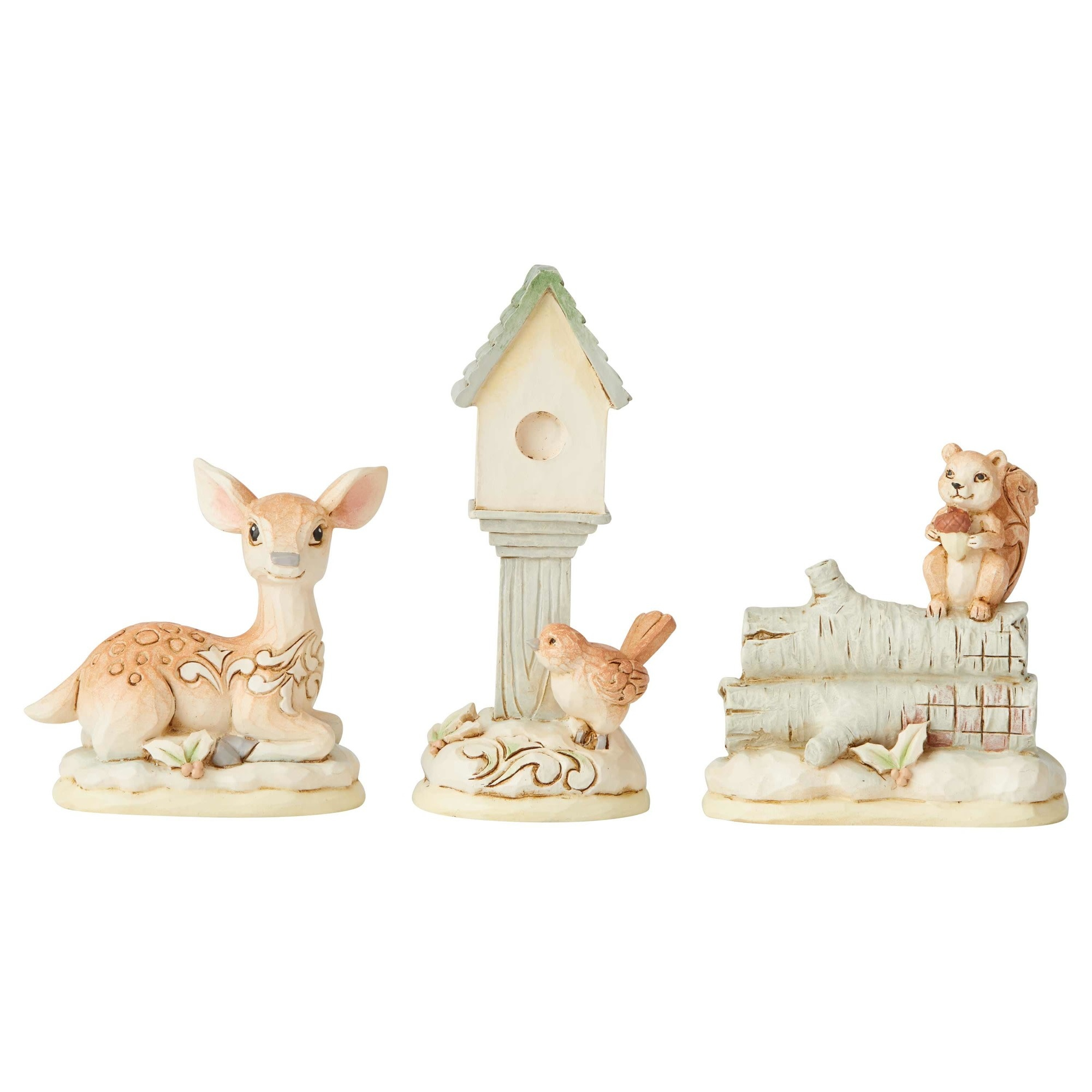 Jim Shore Woodland Mini Animal Set of 3