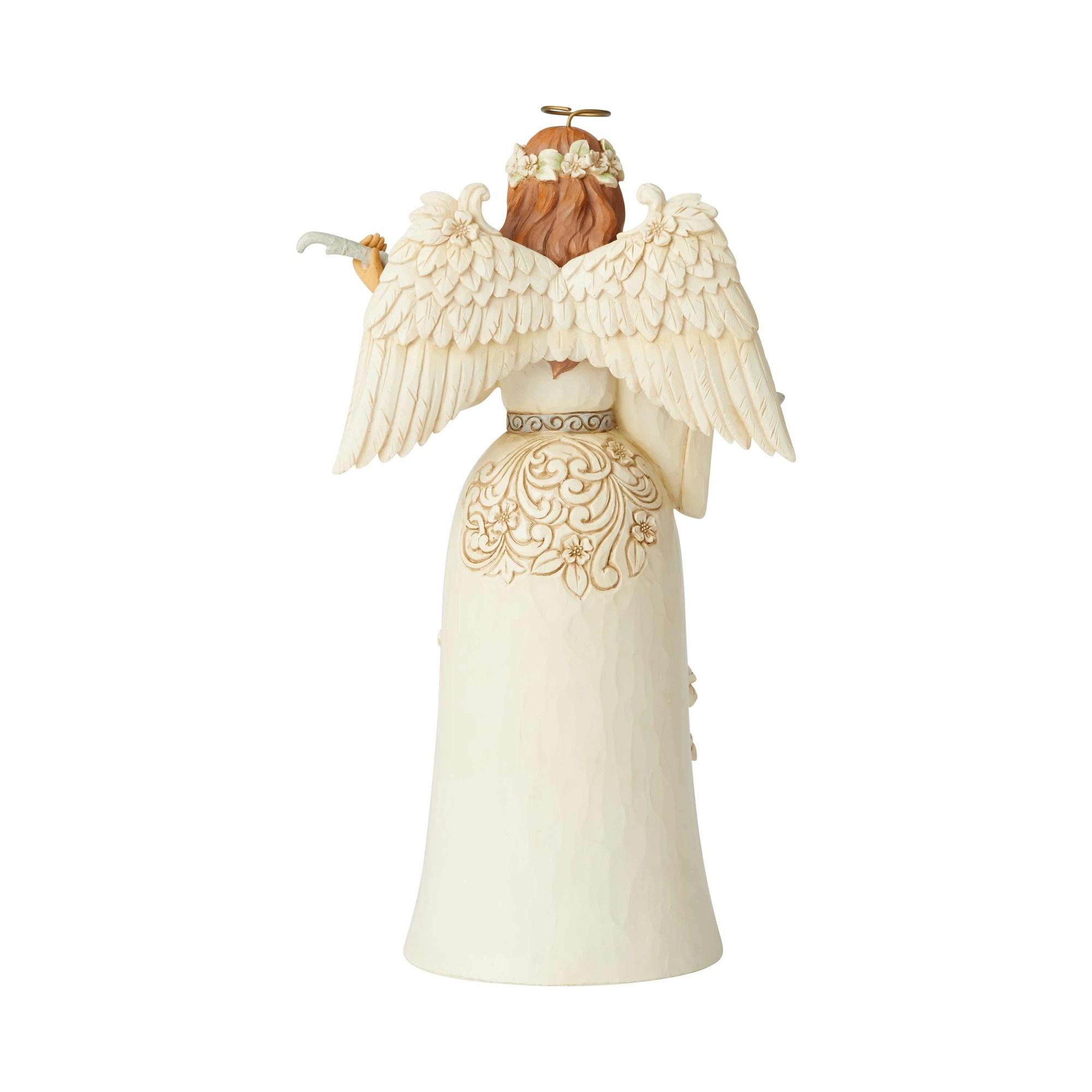 Jim Shore White Woodland Nativity Angel