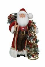 Karen Didion Karen Didion Lighted Woodland Pine Santa