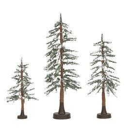 Departmrnt 56 Snowy Lodge Pines Set of 3