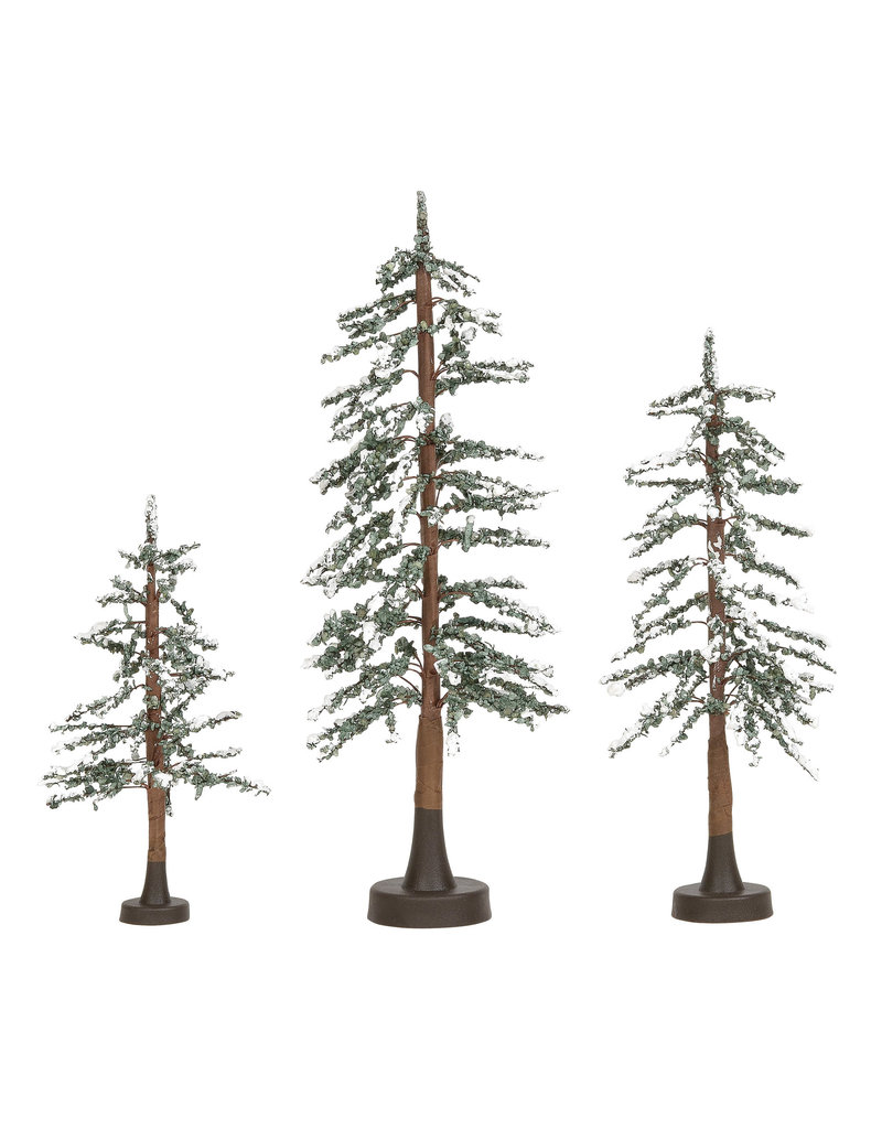 Snowy Lodge Pines Set of 3 for Department 56 Village