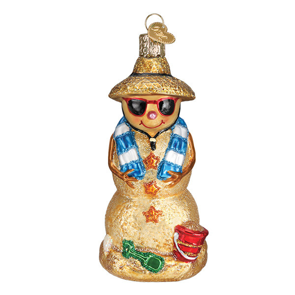 Old World Christmas  Sand Snowman