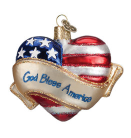 Old World Christmas God Bless America Heart