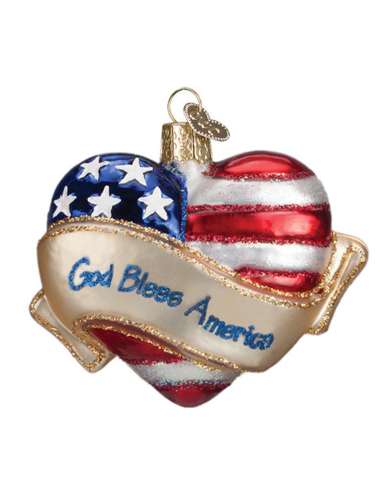 Old World Christmas God Bless America Heart
