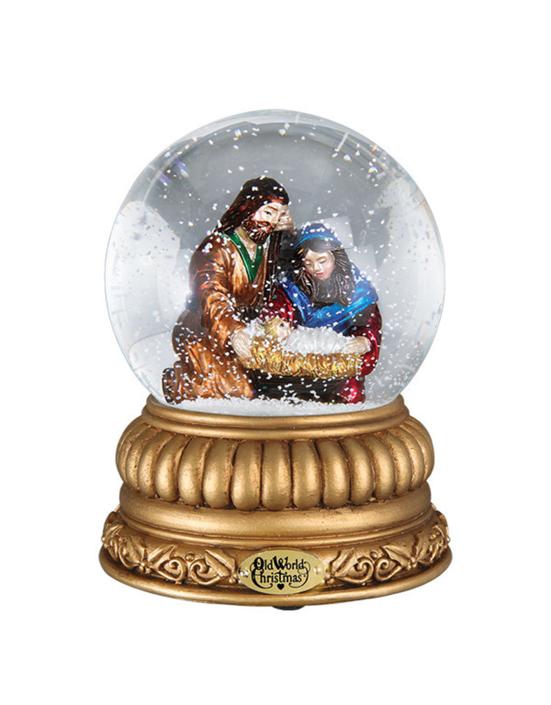 Old World Christmas Holy Family Snowglobe