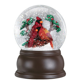 Old World Christmas Pair of Cardinals Snowglobe