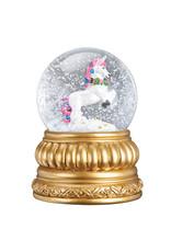 Old World Christmas Prancing Unicorn Snowglobe