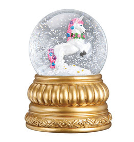 Old World Christmas Prancing Unicorn Snowglobe