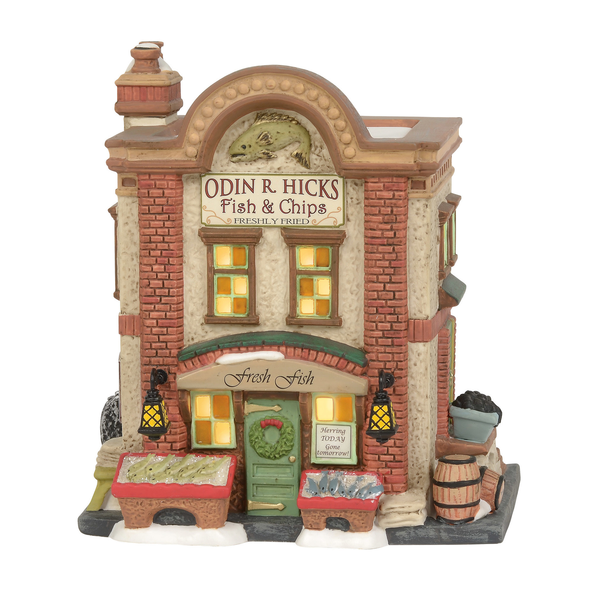 Dicken's Village Odin R. Hicks Fish & Chips