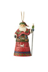 Jim Shore Lapland Santa with Staff Ornament