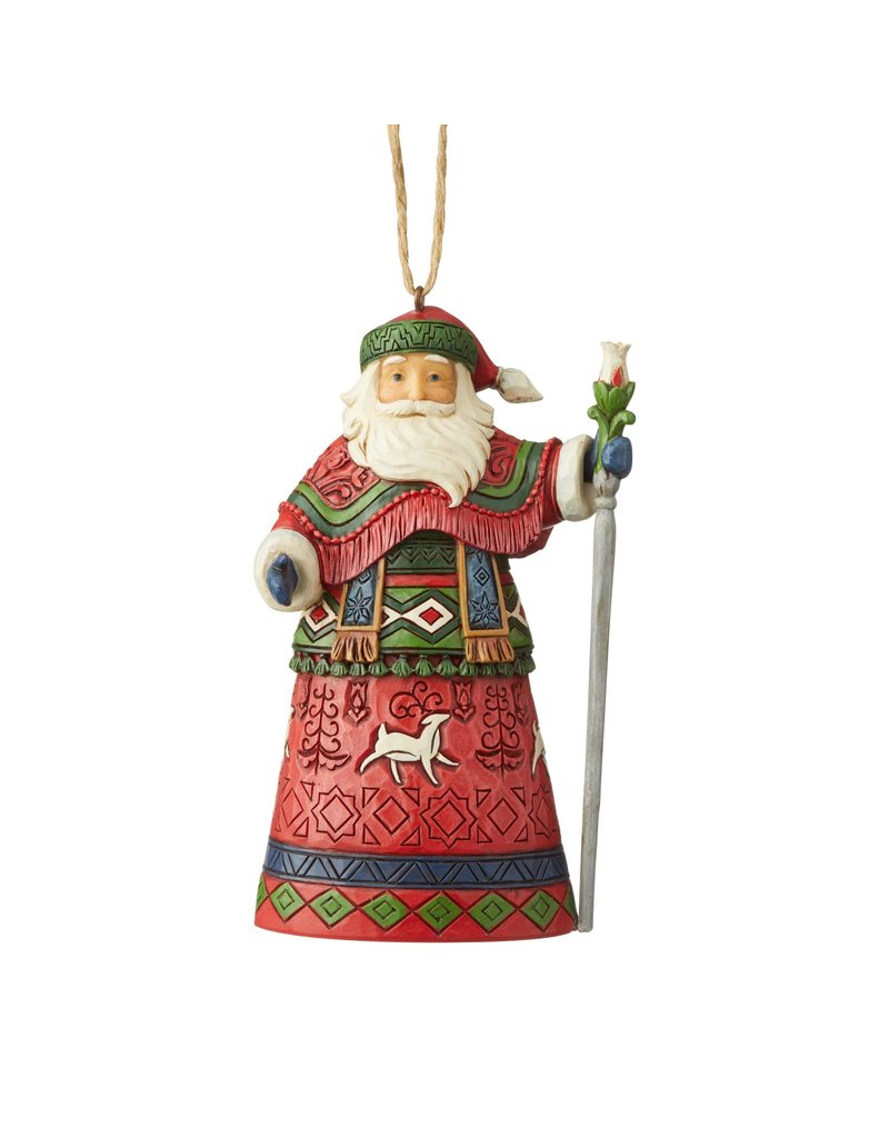 Jim Shore Lapland Santa with Staff Ornament