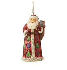 Jim Shore Santa with Toy Bag Ornament