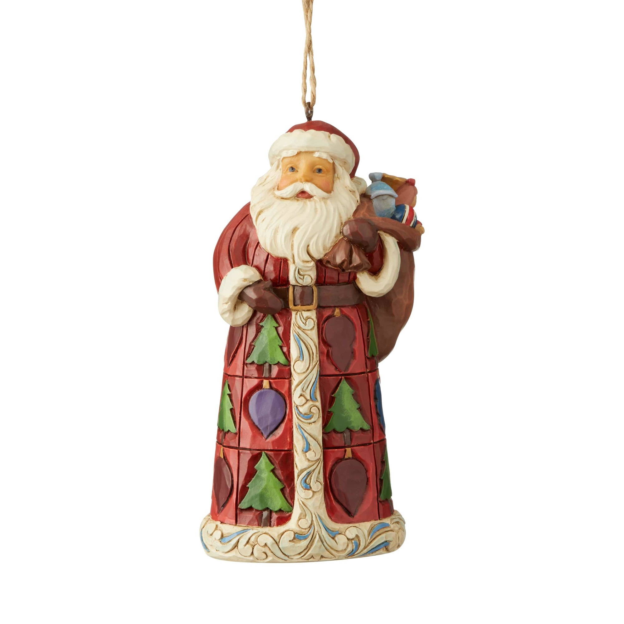 Jim Shore Santa with Toy Bag Ornament