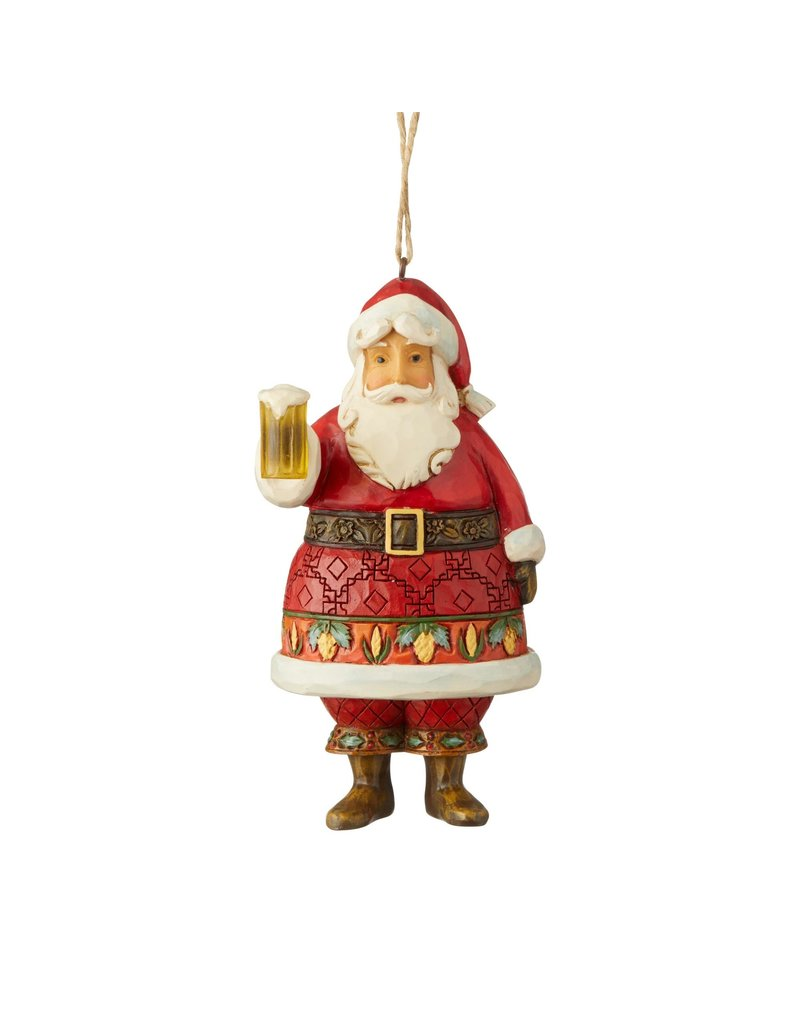 Jim Shore Craft Beer Santa Ornament