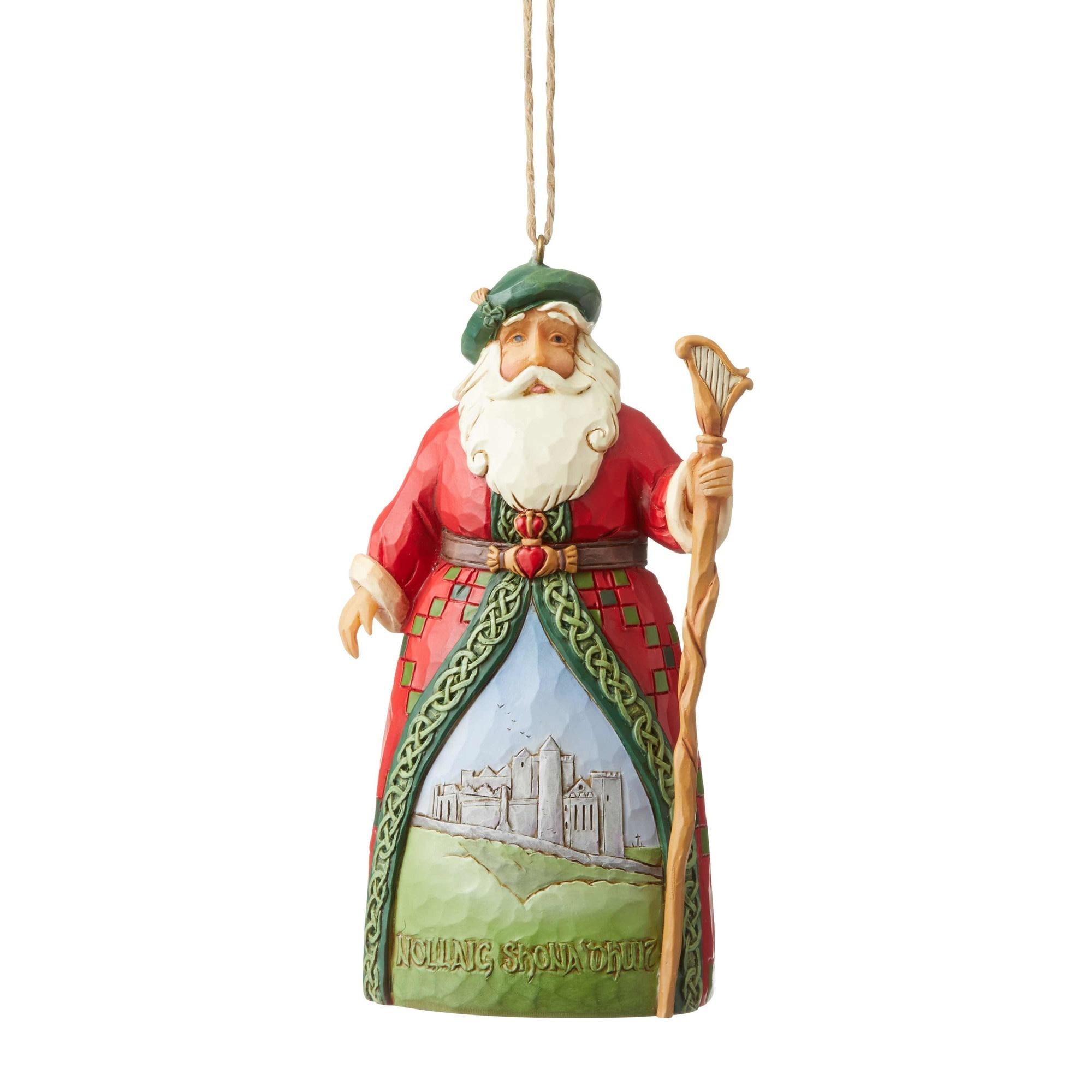 Jim Shore Irish Santa Ornament