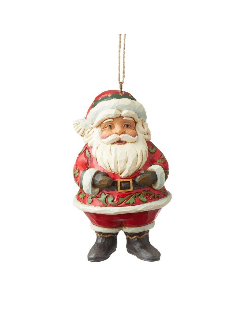 Jim Shore Jolly Santa Mini Ornament
