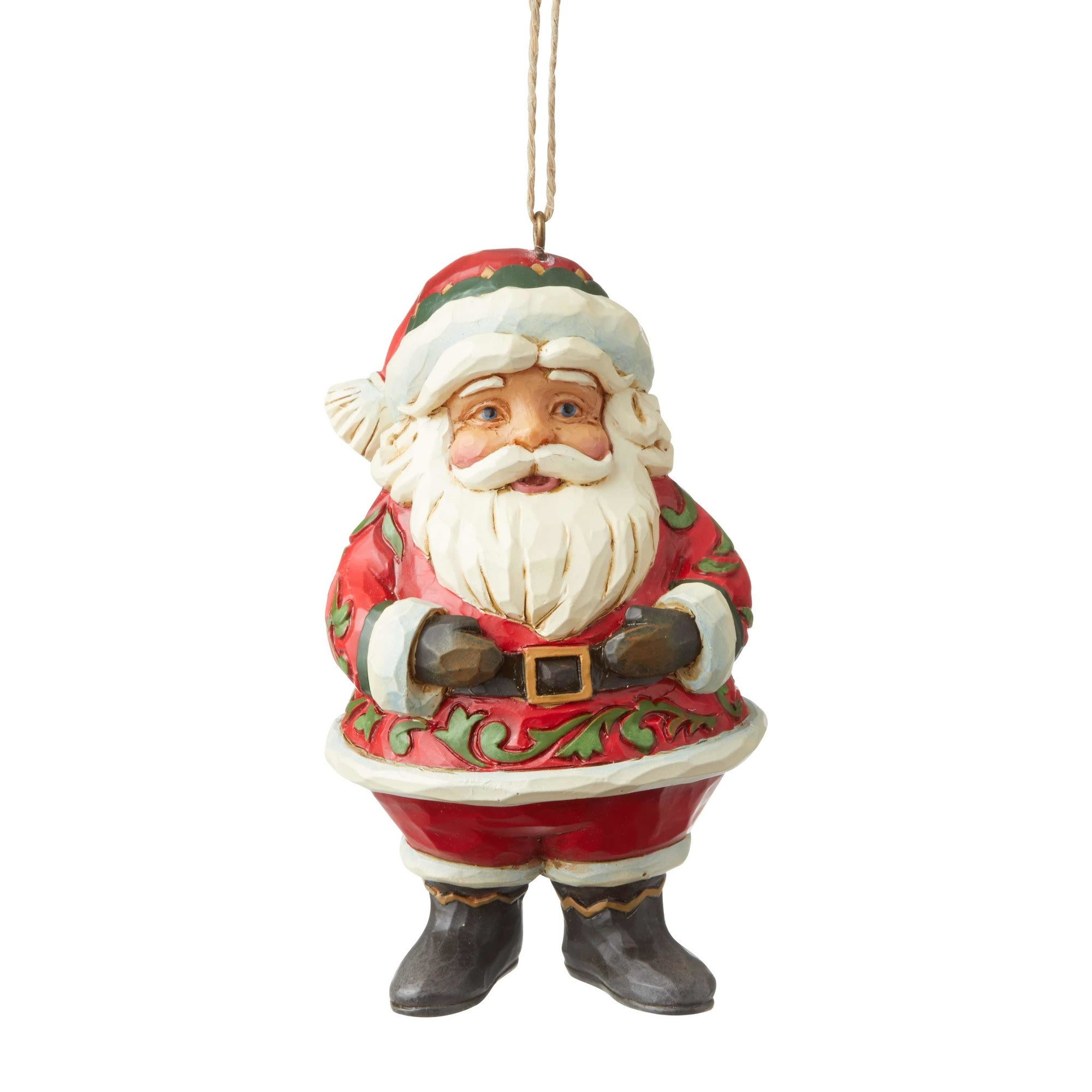 Jim Shore Jolly Santa Mini Ornament