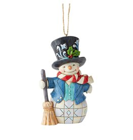 Jim Shore Snowman with Top Hat Ornament