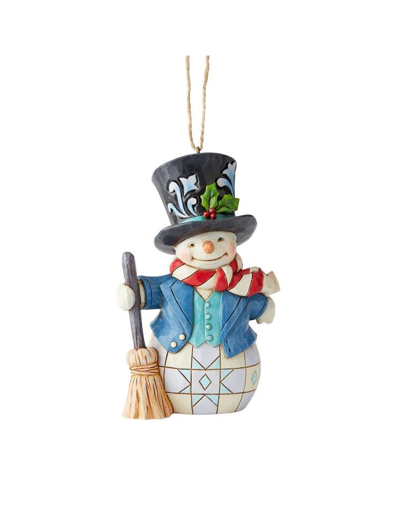 Jim Shore Snowman with Top Hat Ornament