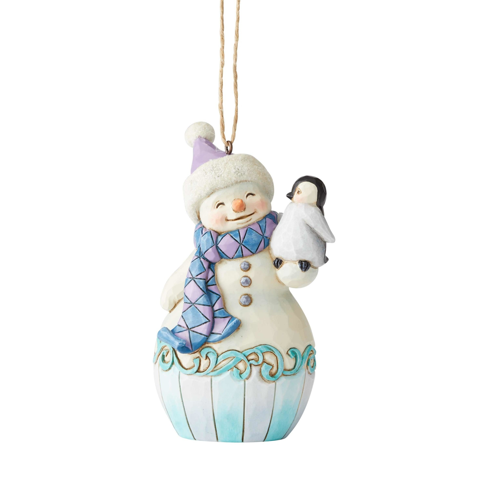 Jim Shore Snowman with Penguin Ornament